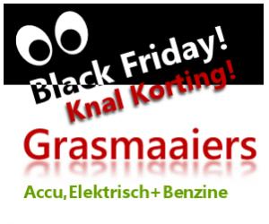 Black Friday grasmaaiers