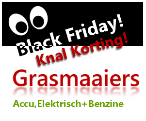 Black Friday grasmaaiers