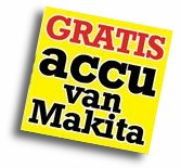 Accu grasmaaier Makita gratis