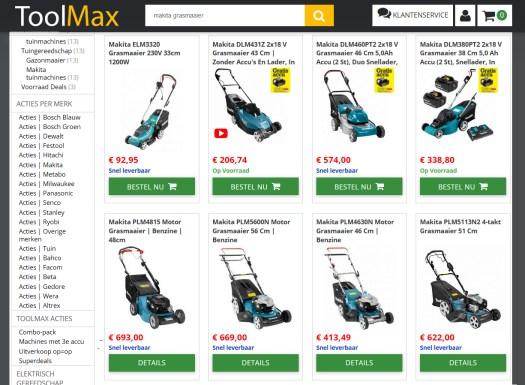 Grasmaaiers in webshop Toolmax
