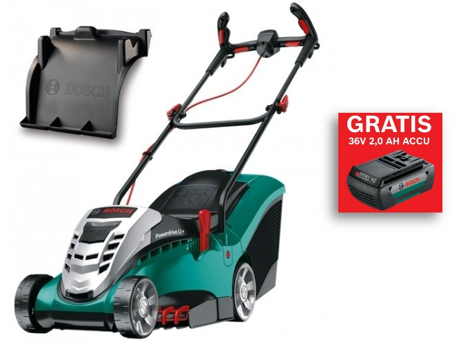 Accu grasmaaier Bosch-Rotak-37-li-mulch en accu