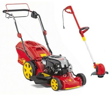 Benzinemaaier Wolf-Garten-460AVHW aanbieding met trimmer