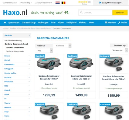 Grasmaaier kopen in webshop Haxo