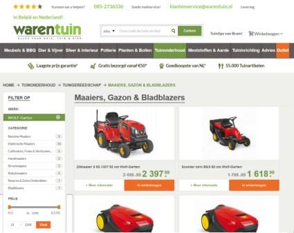 Voorbeeld Grasmaaier kopen in webshop Warentuin