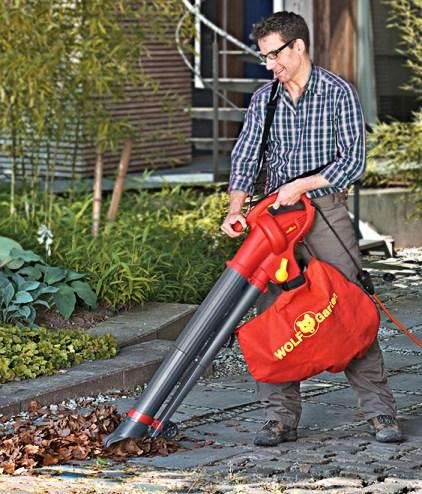 Elektrische bladblazer Wolf-Garten-LBV2600E gebruik