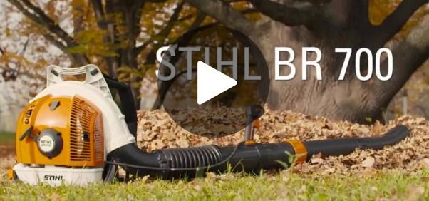 bladblazer benzine stihl -br700-video