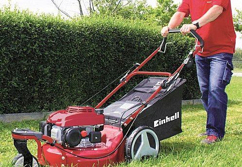 benzine grasmaaier Einhell-GC-PM-46sHWT-gebruik