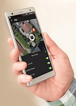 Robotmaaier besturing app smartphone