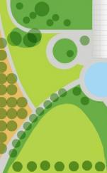 Plattegrond kleine tuin