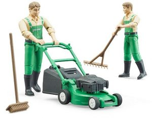 Speelgoed grasmaaier met tuinman