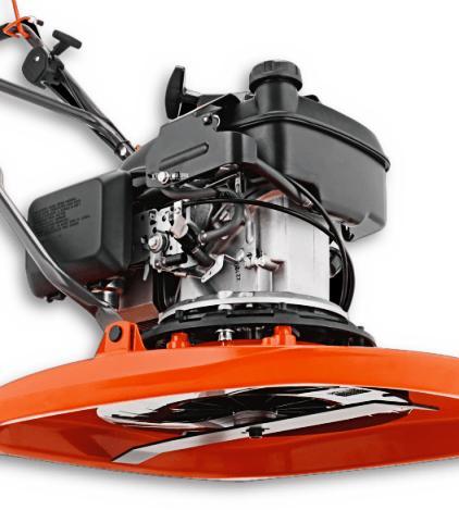 Flymo XL500 benzine-zweefmaaier-detail
