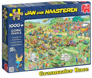 Van Haasteren Puzzel grasmaaier race