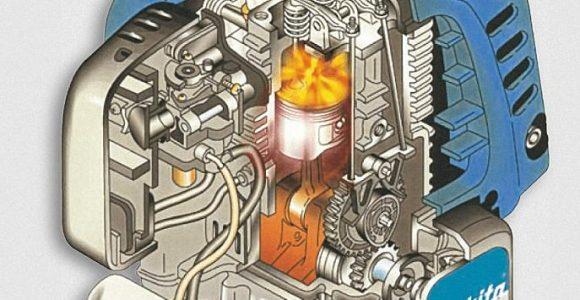 Makita grasmaaier benzine motor