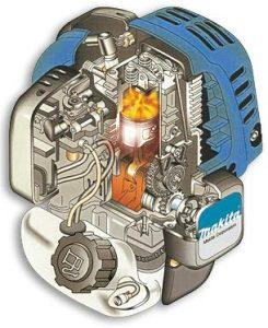 Makita benzine grasmaaier